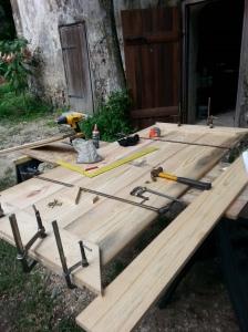 Adding the last plank.
